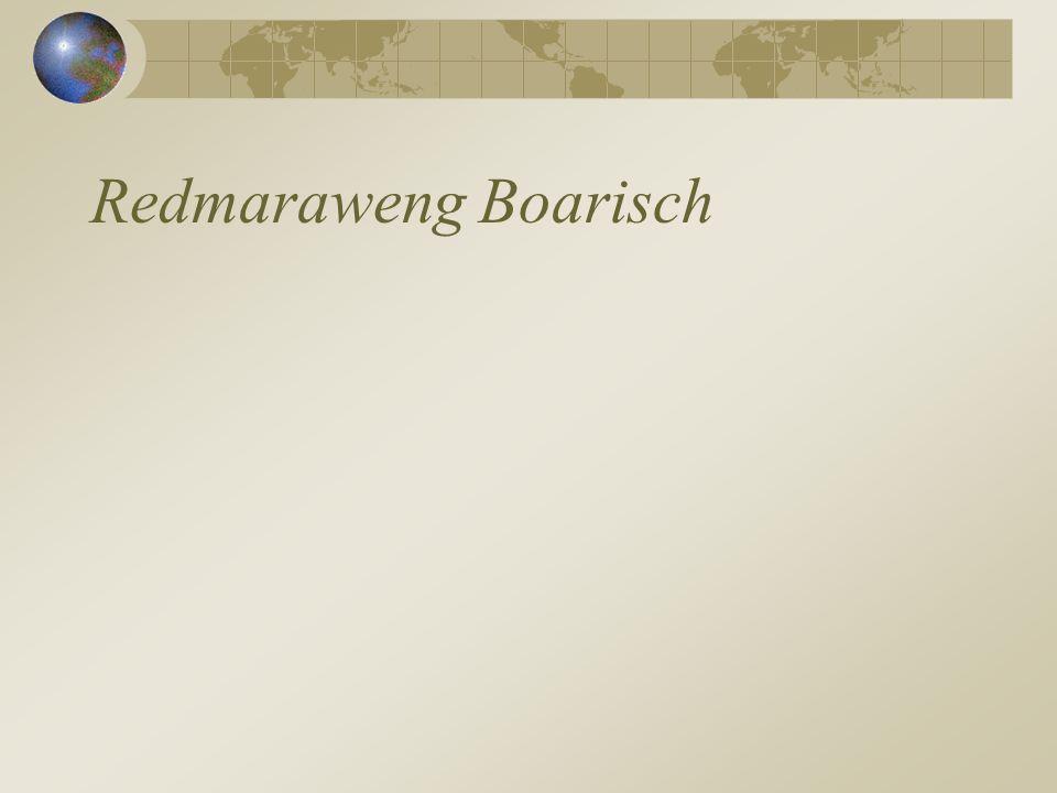 Redmaraweng Boarisch