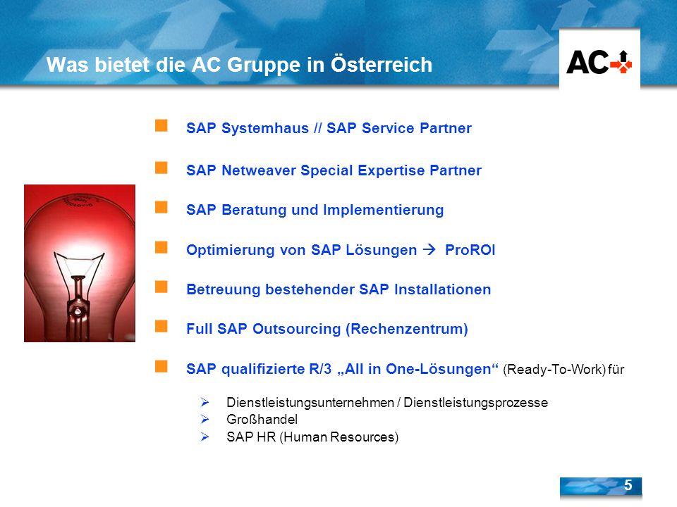 5 SAP Systemhaus // SAP Service Partner SAP Netweaver Special Expertise Partner SAP Beratung und Implementierung Optimierung von SAP Lösungen ProROI B