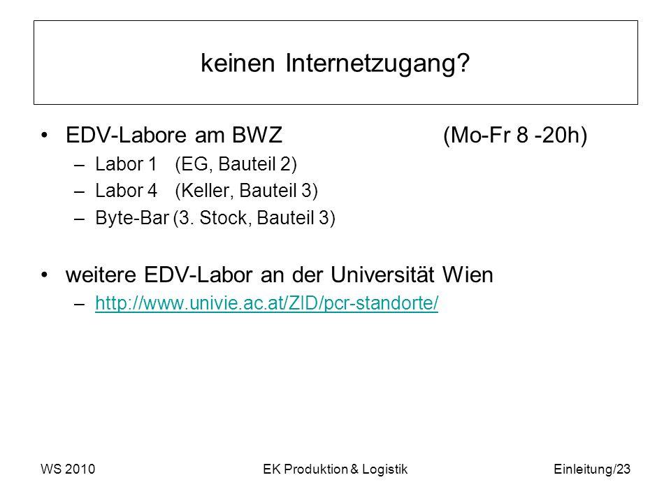 keinen Internetzugang? EDV-Labore am BWZ(Mo-Fr 8 -20h) –Labor 1(EG, Bauteil 2) –Labor 4 (Keller, Bauteil 3) –Byte-Bar (3. Stock, Bauteil 3) weitere ED