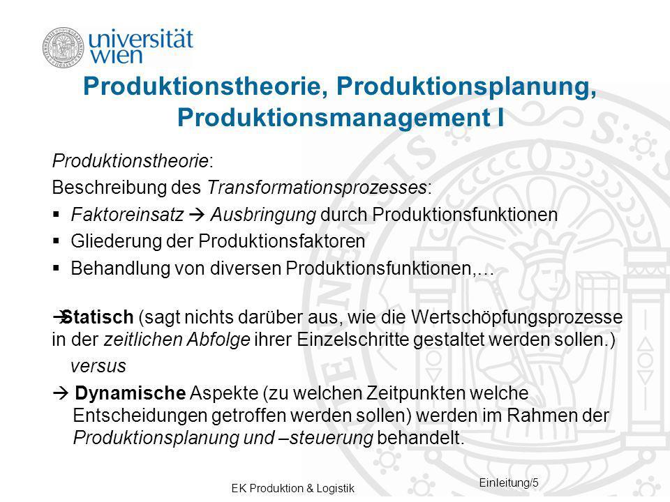 EK Produktion & Logistik Einleitung/16 1.Fragen beantworten 2.