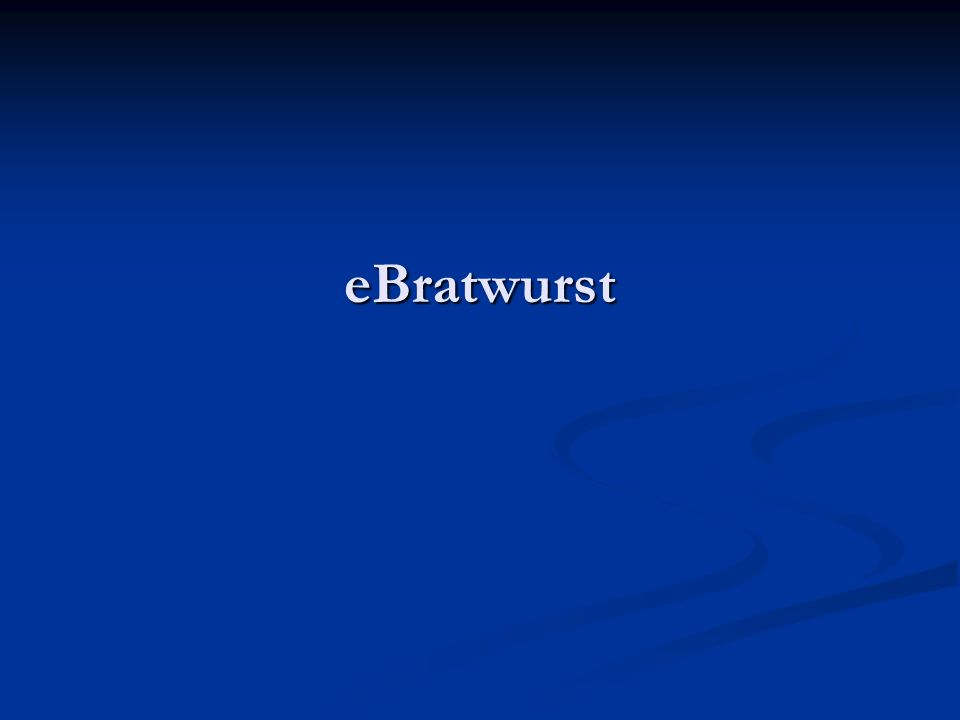 eBratwurst