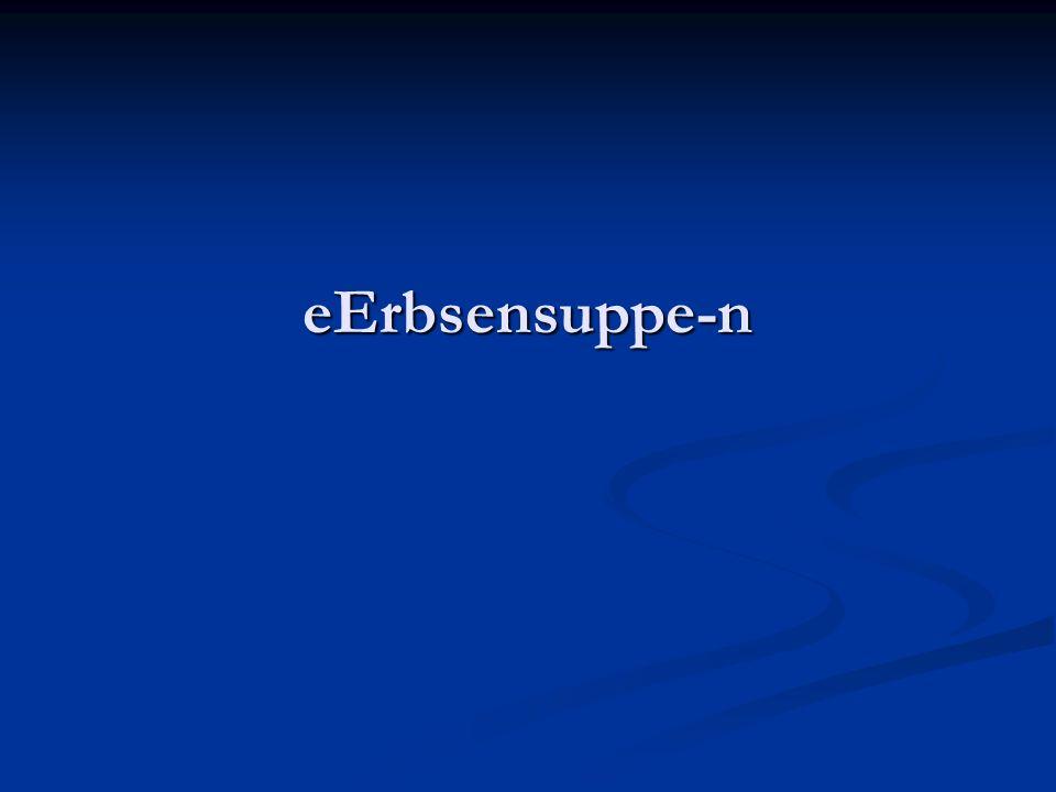 eErbsensuppe-n