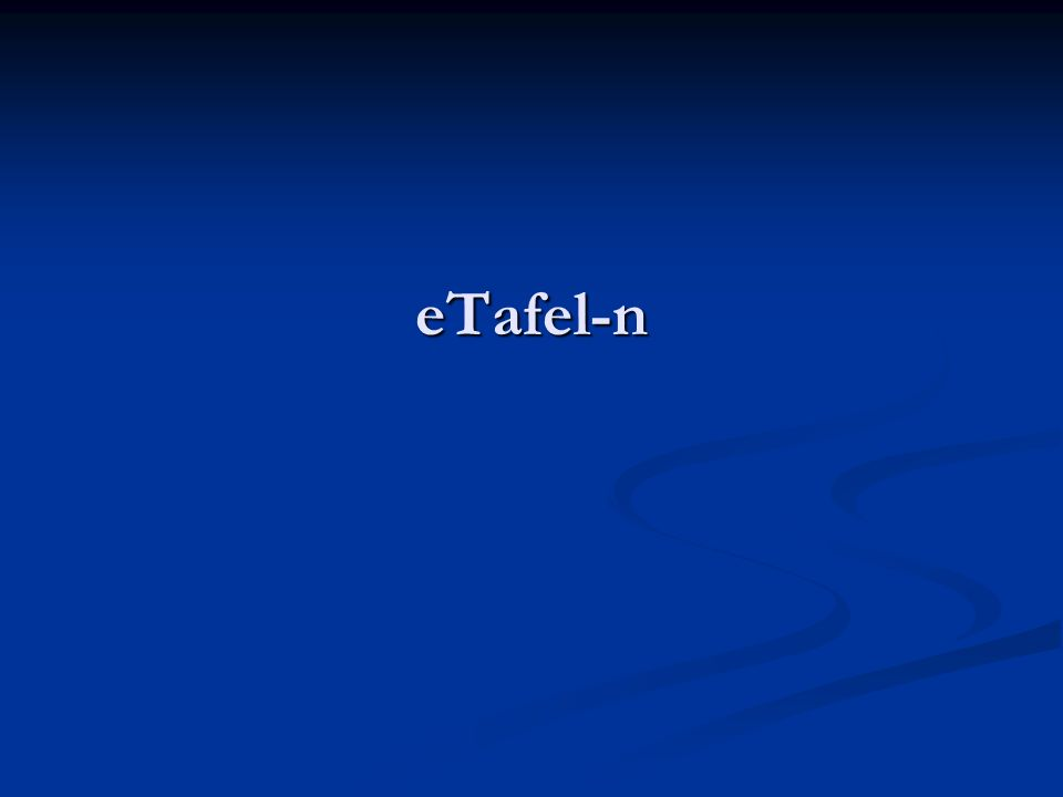 eTafel-n