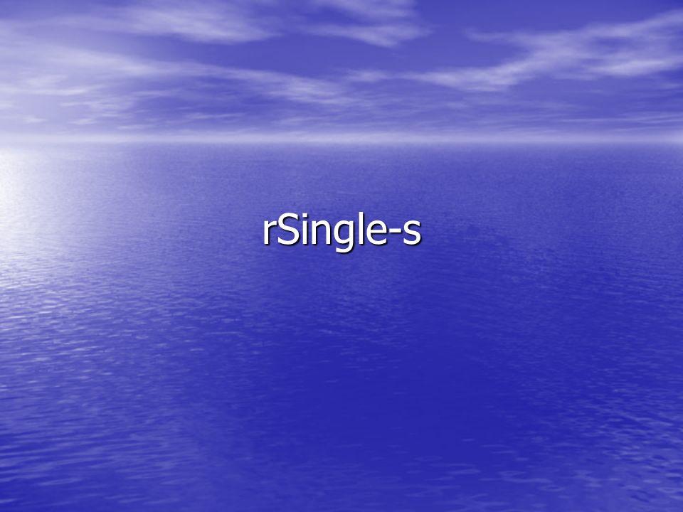 rSingle-s