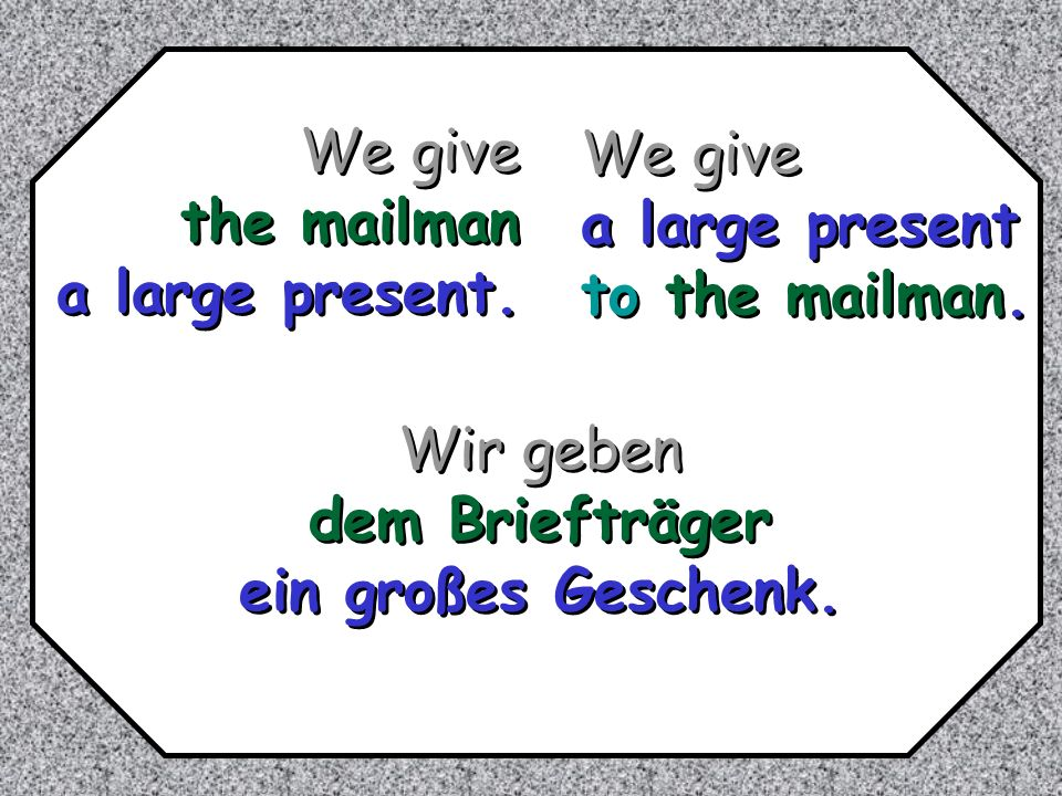 dative verbs of advantage helfen kaufen for whom.Ich helfe dir in Deutsch.