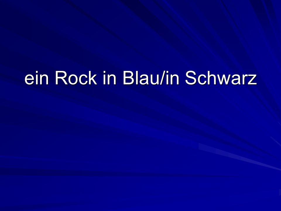 ein Rock in Blau/in Schwarz