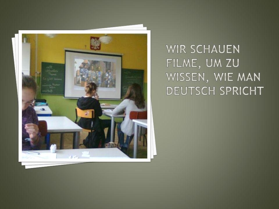 Vielen Dank an unsere Lehrerin und Lehrer.