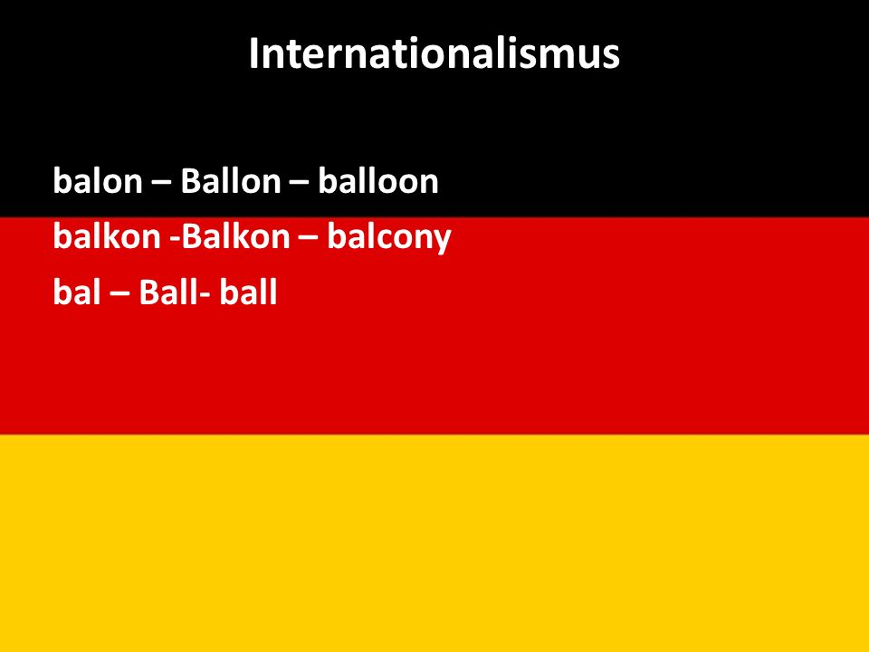 Internationalismus balon – Ballon – balloon balkon -Balkon – balcony bal – Ball- ball