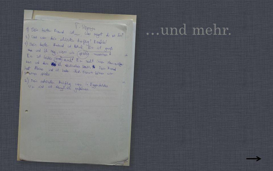 Wie jedes Jahr hörten wir Deutsche Lieder.