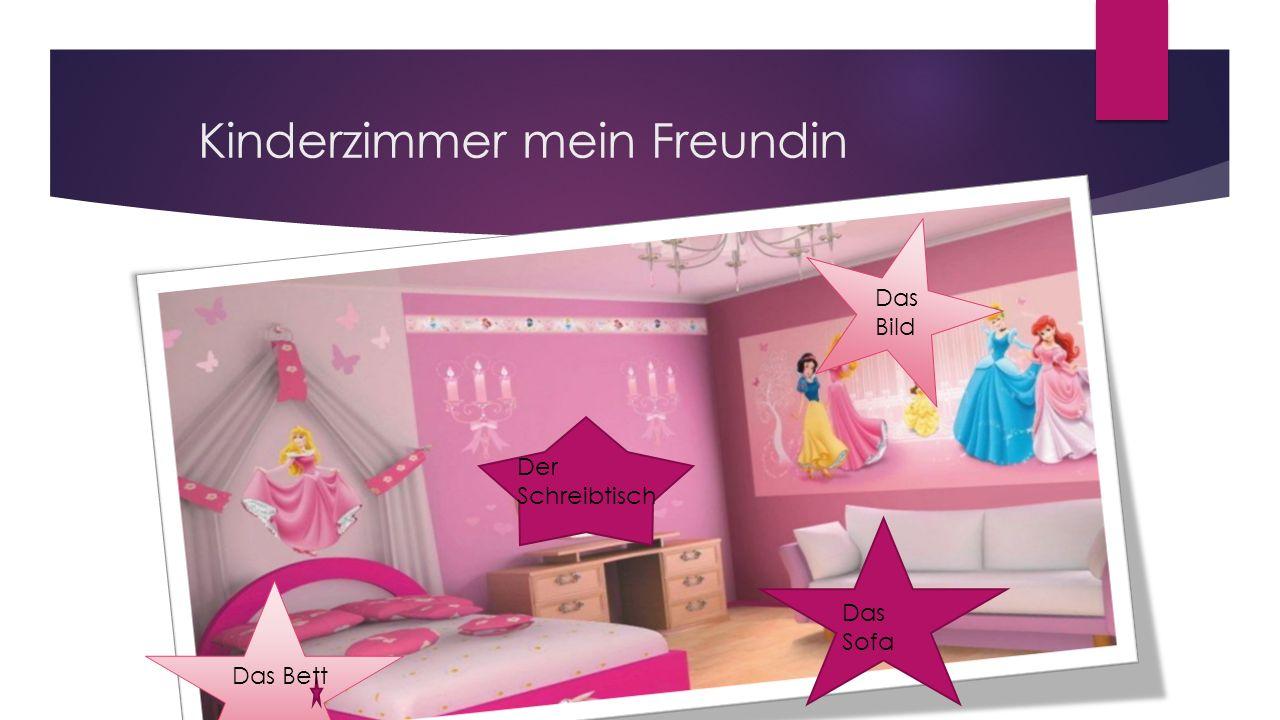 Kinderzimmer mein Freundin Das Bett Das Bild Das Sofa Der Schreibtisch