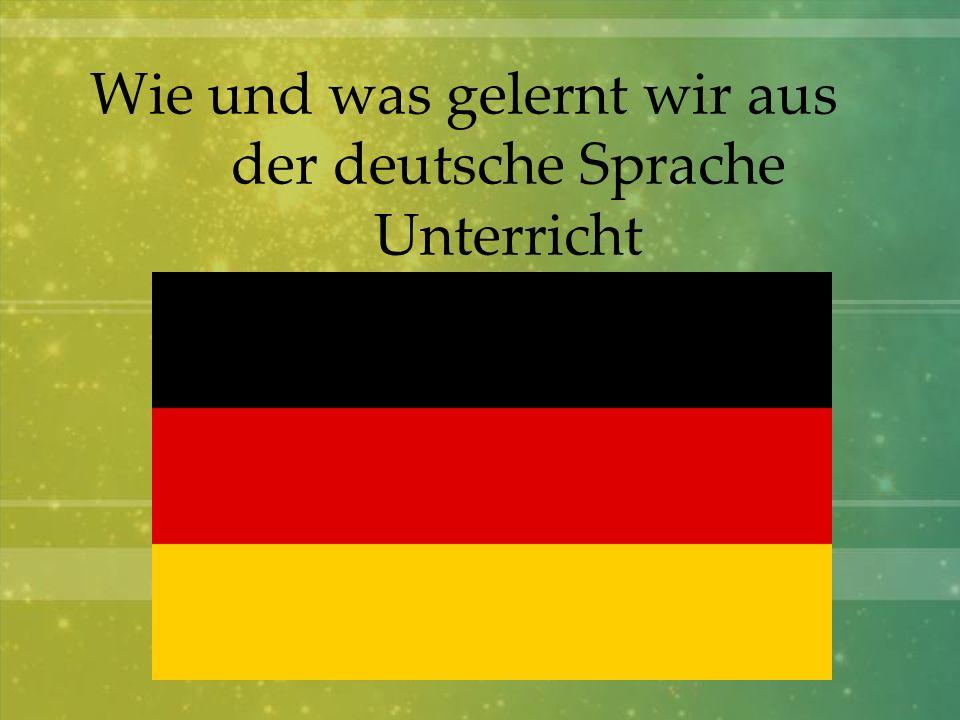 Das Abenteuer mit der deutschen Sprache begannen wir - deutsche Lyrics zu singen Am Sonntag gehe ich zur Kirche.