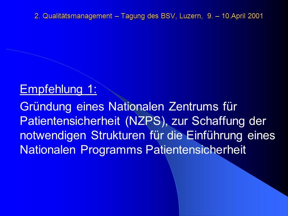 2.Qualitätsmanagement – Tagung des BSV, Luzern, 9.