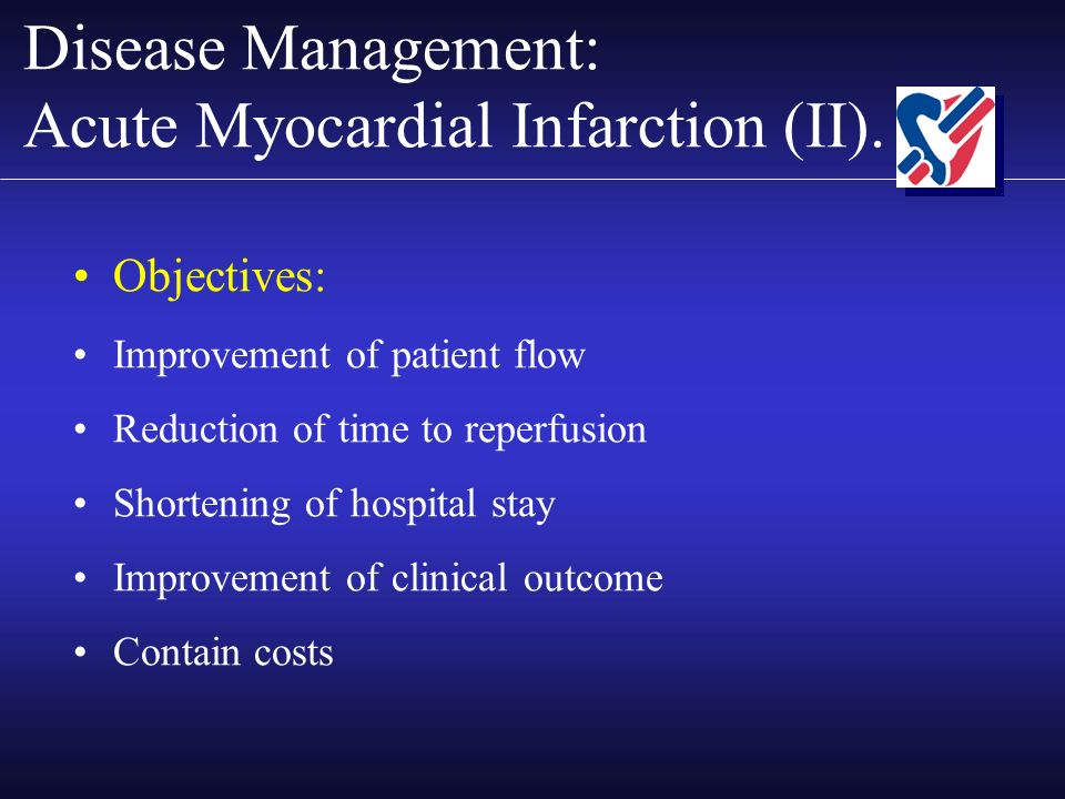 Disease Management: Acute Myocardial Infarction (II).