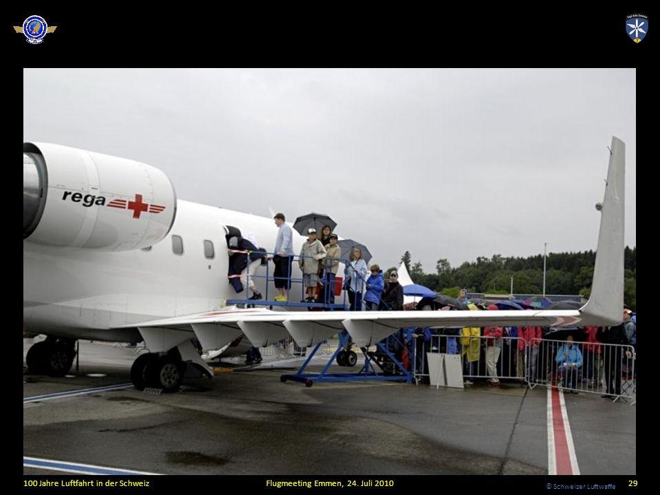 © Schweizer Luftwaffe 100 Jahre Luftfahrt in der SchweizFlugmeeting Emmen, 24. Juli 201029