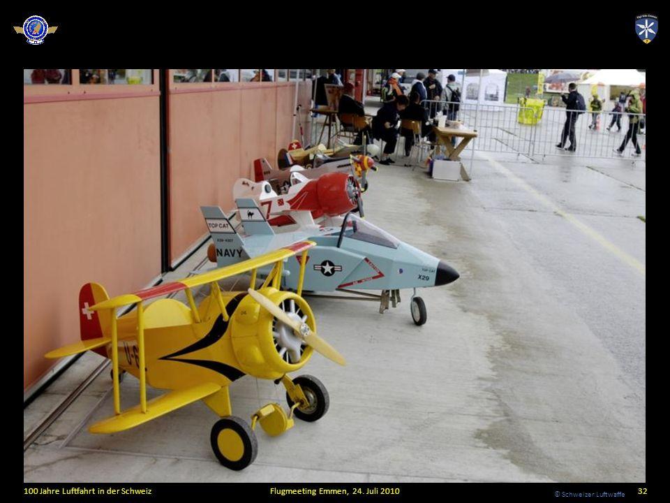 © Schweizer Luftwaffe 100 Jahre Luftfahrt in der SchweizFlugmeeting Emmen, 24. Juli 201032