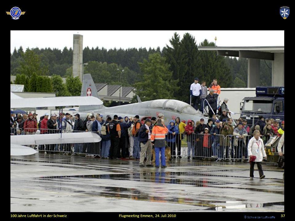 © Schweizer Luftwaffe 100 Jahre Luftfahrt in der SchweizFlugmeeting Emmen, 24. Juli 201037
