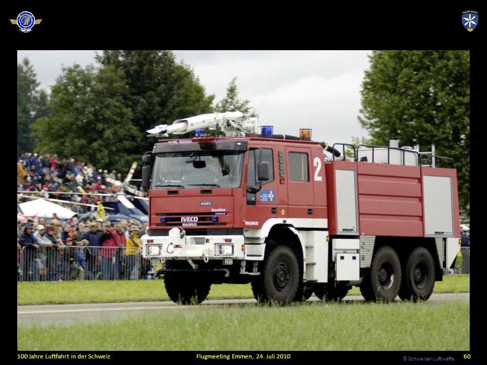 © Schweizer Luftwaffe 100 Jahre Luftfahrt in der SchweizFlugmeeting Emmen, 24. Juli 201060