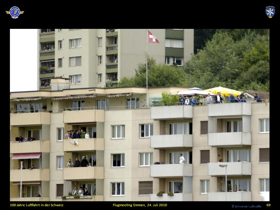 © Schweizer Luftwaffe 100 Jahre Luftfahrt in der SchweizFlugmeeting Emmen, 24. Juli 201069