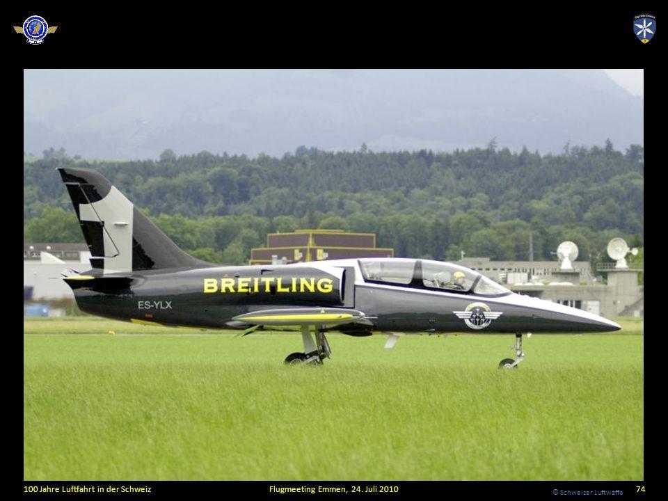 © Schweizer Luftwaffe 100 Jahre Luftfahrt in der SchweizFlugmeeting Emmen, 24. Juli 201074