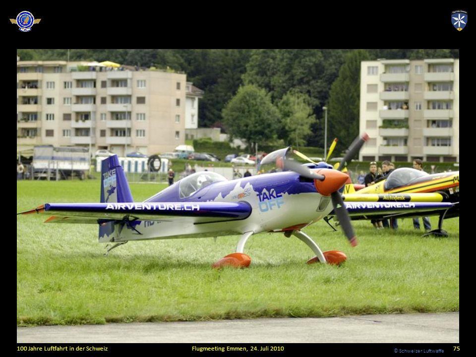 © Schweizer Luftwaffe 100 Jahre Luftfahrt in der SchweizFlugmeeting Emmen, 24. Juli 201075