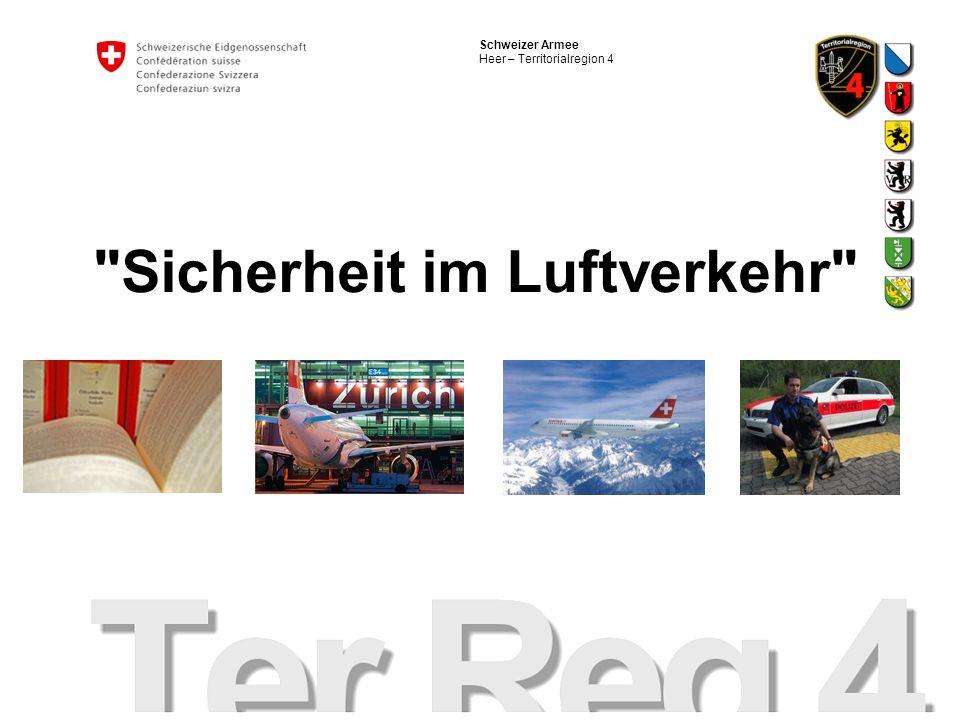 Schweizer Armee Heer – Territorialregion 4 Sicherheit im Luftverkehr