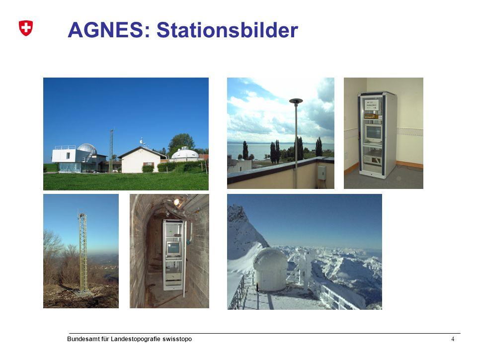 4 Bundesamt für Landestopografie swisstopo AGNES: Stationsbilder