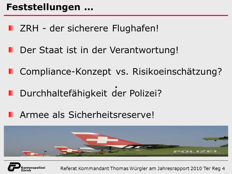 Die Sicherheit des Flughafens Zürich......gibt es nur im Verbund.
