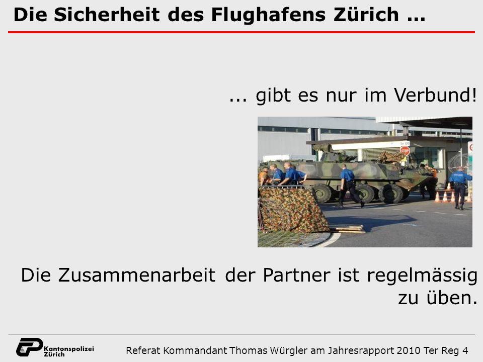 Die Sicherheit des Flughafens Zürich...... gibt es nur im Verbund.