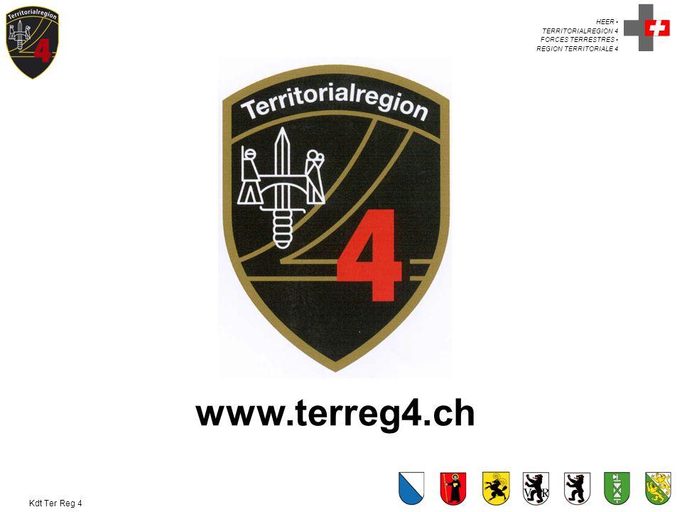 HEER TERRITORIALREGION 4 FORCES TERRESTRES REGION TERRITORIALE 4 Kdt Ter Reg 4 www.terreg4.ch