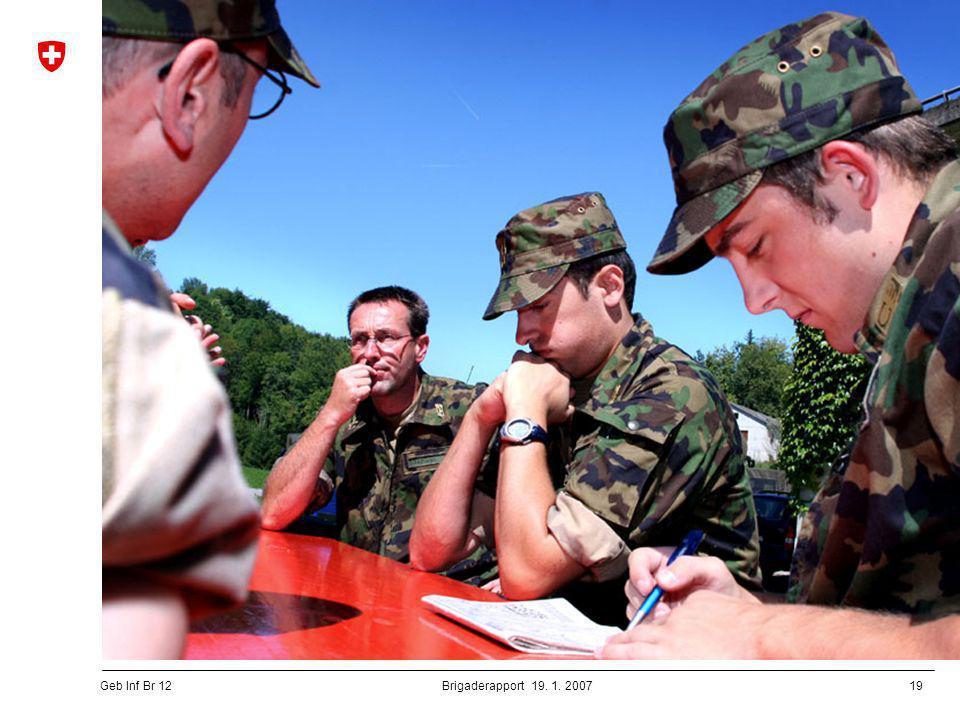 20 Geb Inf Br 12 Brigaderapport 19.1.