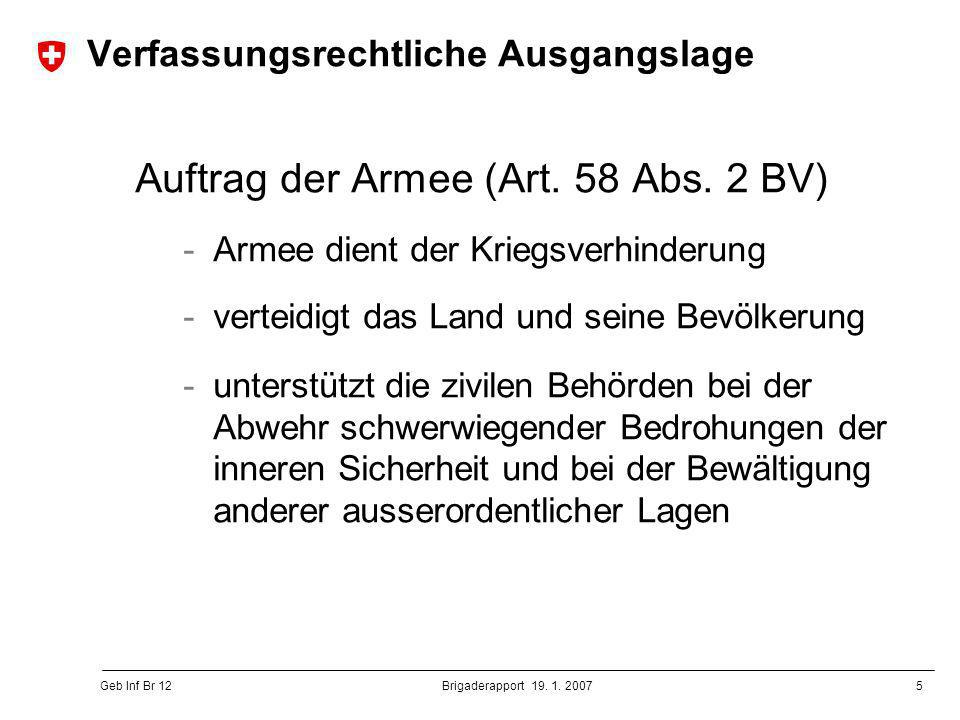6 Geb Inf Br 12 Brigaderapport 19.1.