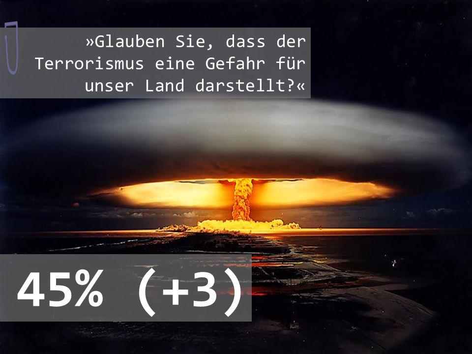 »Vom islamischen Terrorismus geht auch eine Gefahr für die Schweiz aus.« 65%