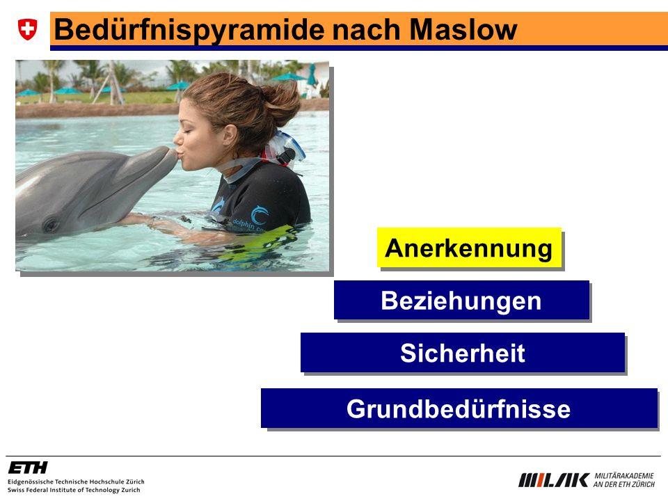 Bedürfnispyramide nach Maslow Sicherheit Beziehungen Anerkennung Grundbedürfnisse
