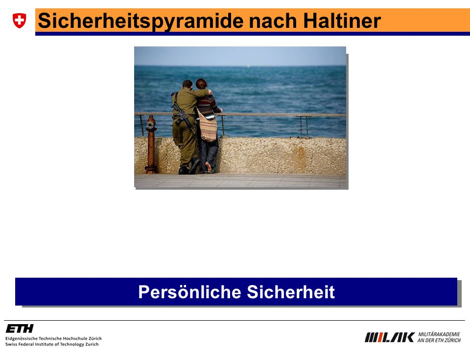Sicherheitspyramide nach Haltiner Persönliche Sicherheit