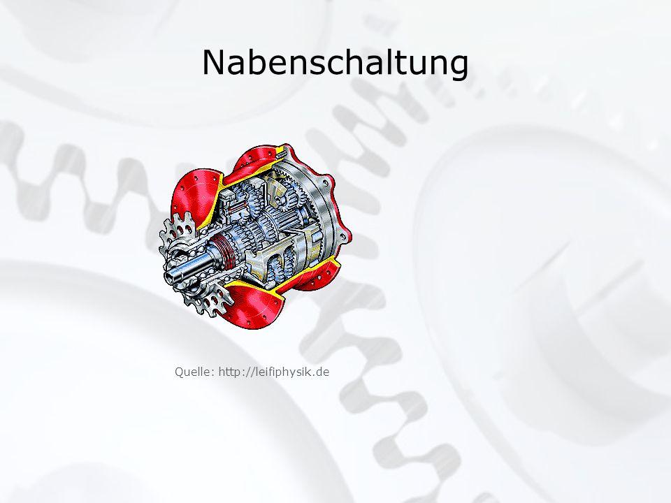 Nabenschaltung Quelle: http://leifiphysik.de