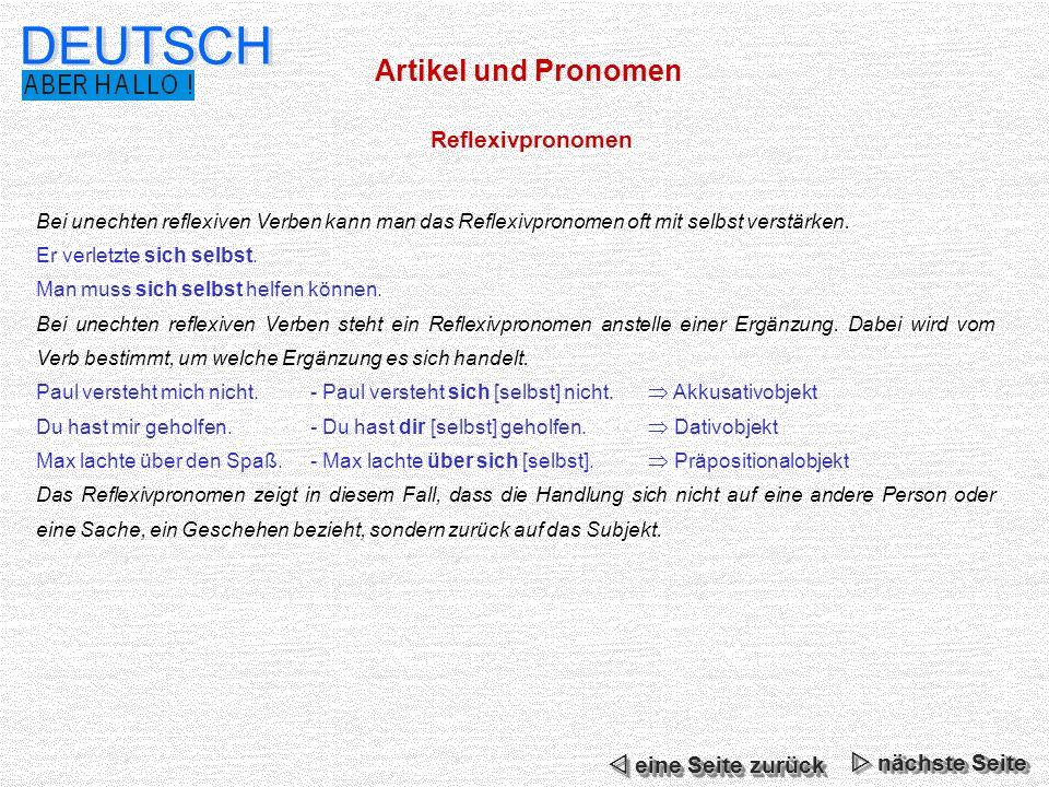 Artikel und Pronomen DEUTSCH Indefinitpronomen / indefinite Artikel jeder, jede, jedes, alle etc.