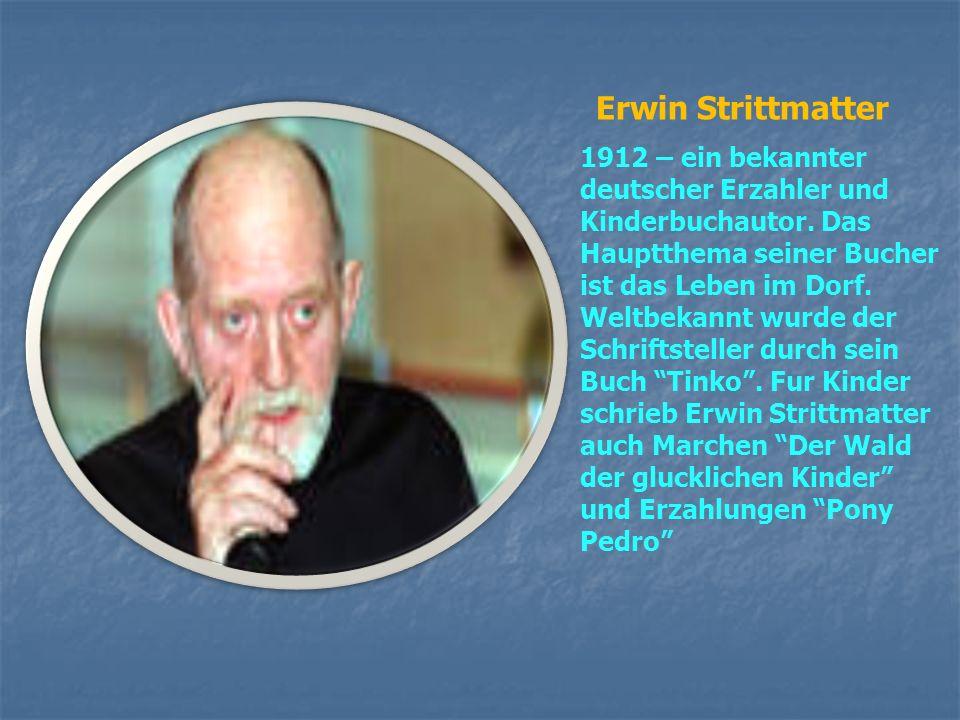 Peter Hartling 1933 –ein bekannter moderner Kinderbuchautor. Lebt in Deutschland, Waldorf (Hessen). Sein Kinderroman Oma erhielt 1976 den Deutschen Ju