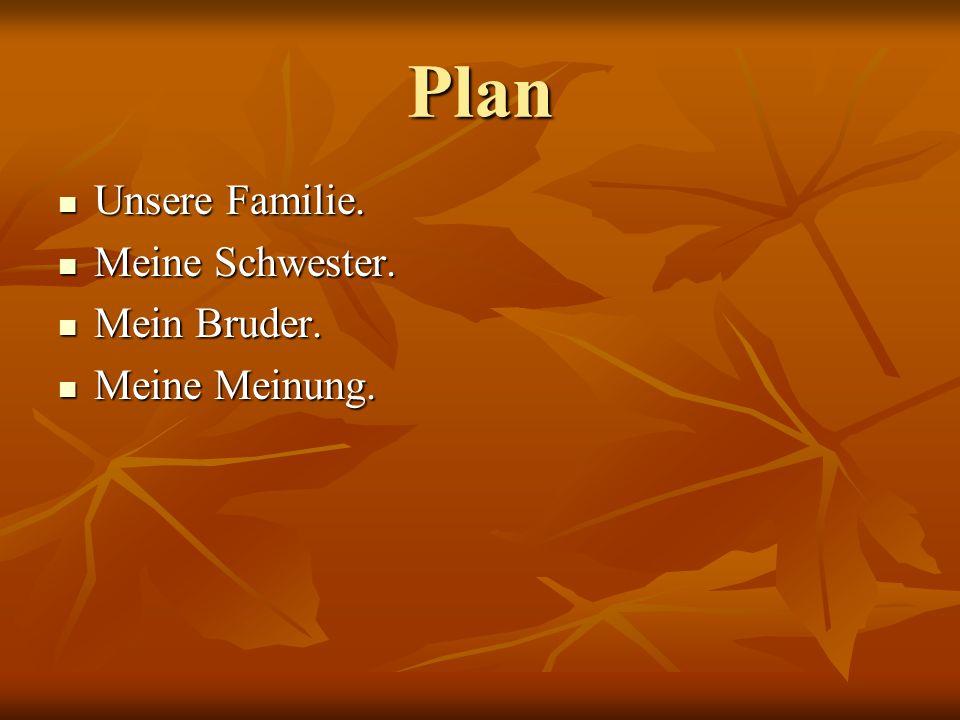 Plan Unsere Familie. Unsere Familie. Meine Schwester. Meine Schwester. Mein Bruder. Mein Bruder. Meine Meinung. Meine Meinung.