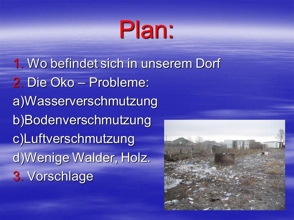 Plan: 1. Wo befindet sich in unserem Dorf 2.