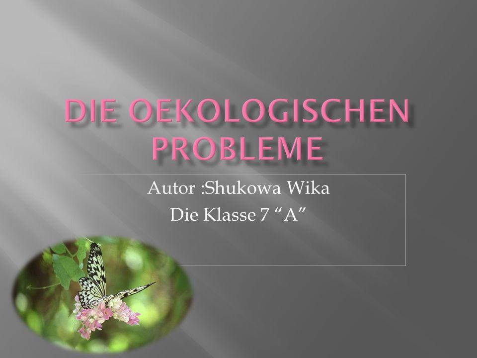 Autor :Shukowa Wika Die Klasse 7 A
