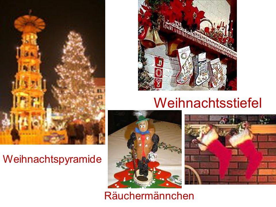 Weihnachtspyramide Räuchermännchen Weihnachtsstiefel