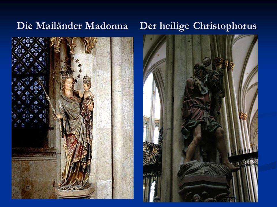 Die Mailänder Madonna Der heilige Christophorus
