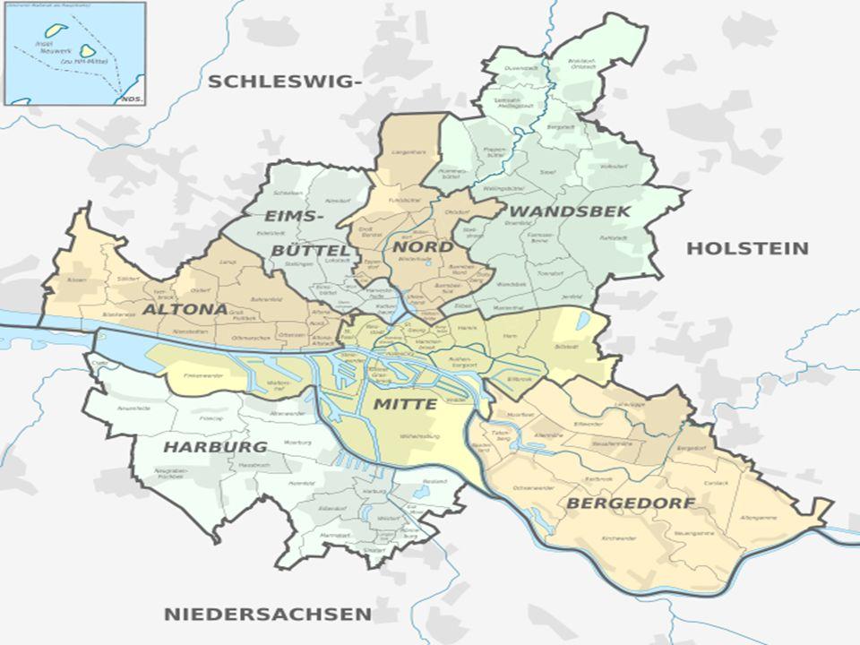 Welche Fläche beträgt Hamburg ein?