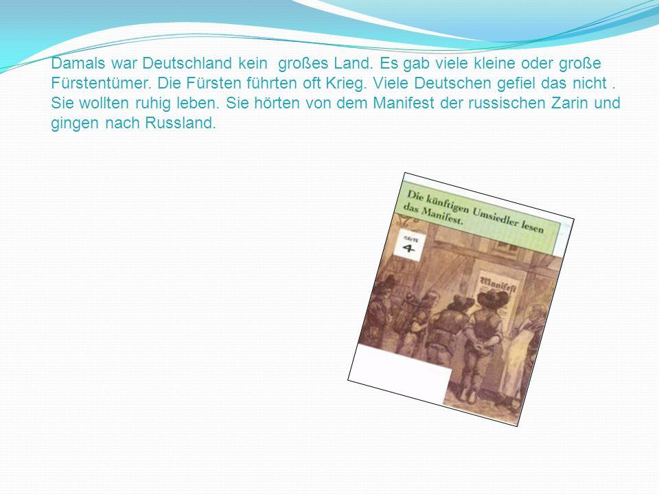Damals war Deutschland kein großes Land. Es gab viele kleine oder große Fürstentümer. Die Fürsten führten oft Krieg. Viele Deutschen gefiel das nicht.