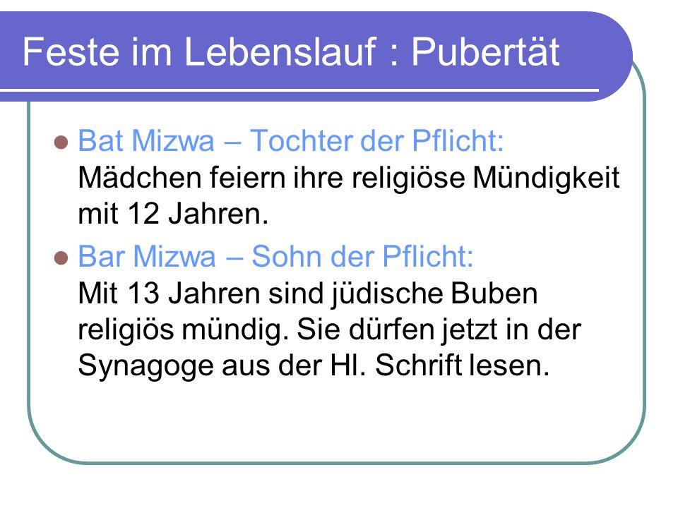 Feste im Lebenslauf : Pubertät Bat Mizwa – Tochter der Pflicht: Mädchen feiern ihre religiöse Mündigkeit mit 12 Jahren.