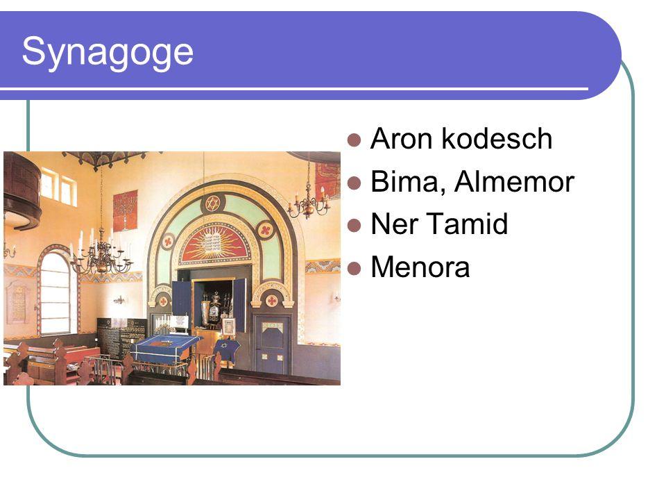 Synagoge Aron kodesch Bima, Almemor Ner Tamid Menora