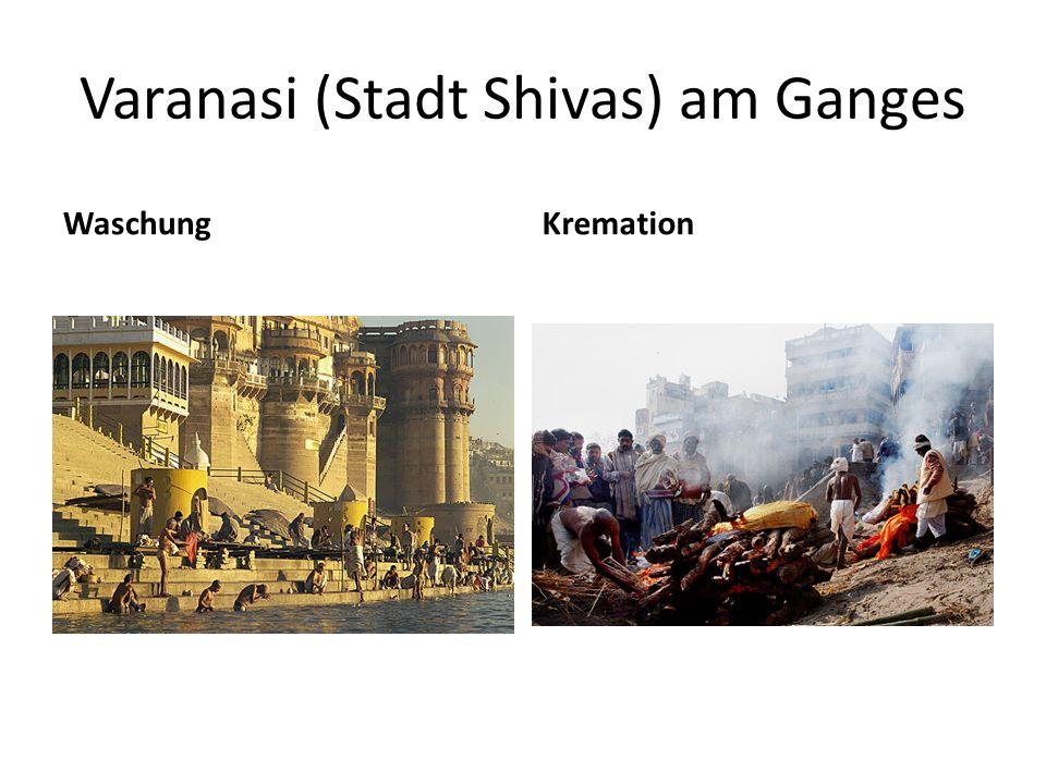 Varanasi (Stadt Shivas) am Ganges WaschungKremation