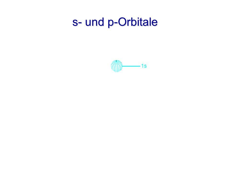 2s s- und p-Orbitale 2p y 2p x 2p z 1s