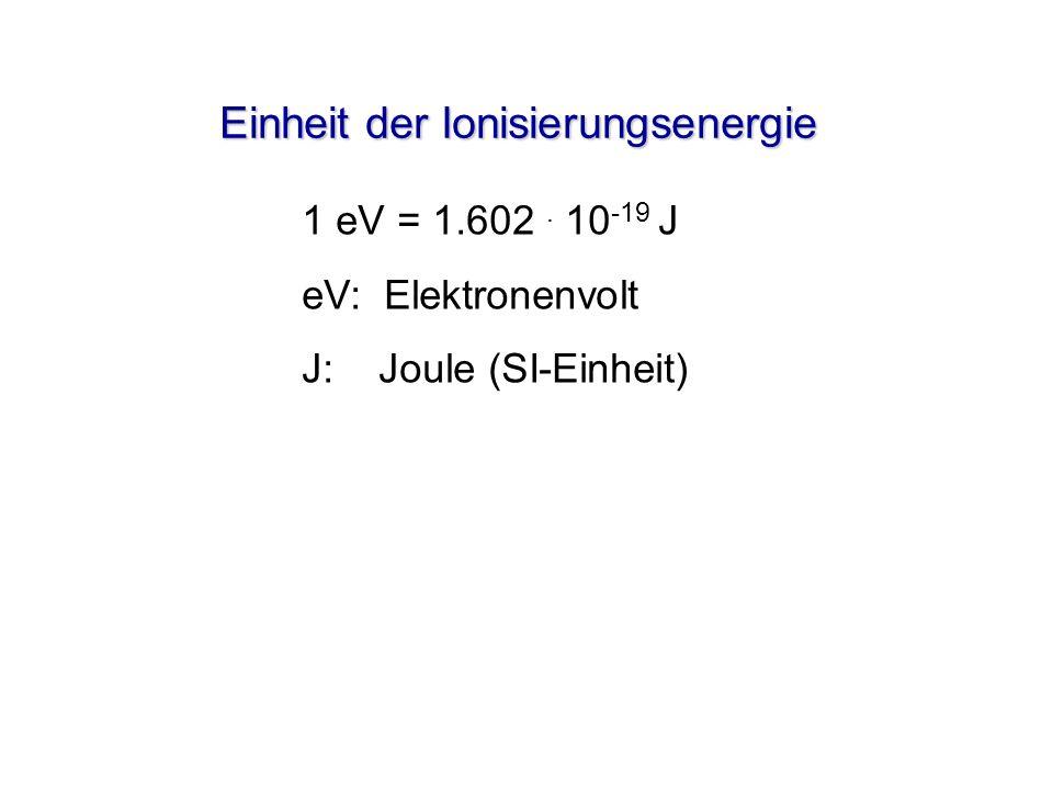 Elektronenkonfiguration von 6 C: 2p 2s 1s Energie n = 2 n = 1 [He]2s 2 2p 2 Kugelwolkenmodell z y z y x z y