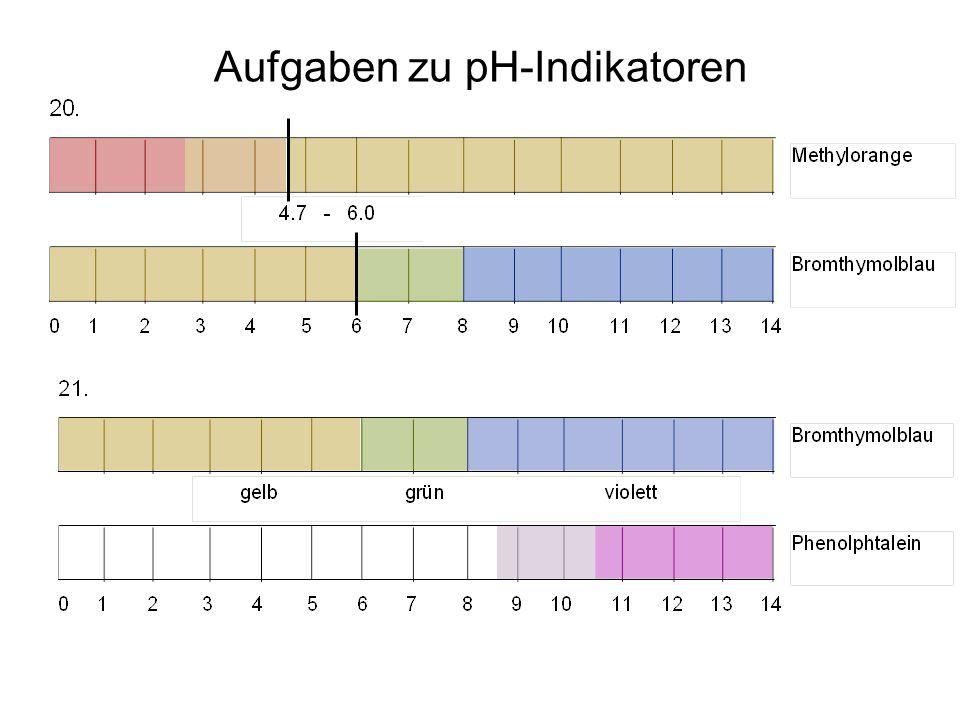 Aufgaben zu pH-Indikatoren